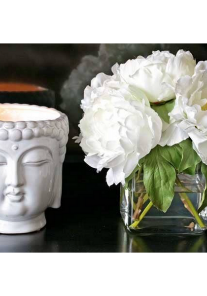 White Buddha Ivory Musk Scented Candle