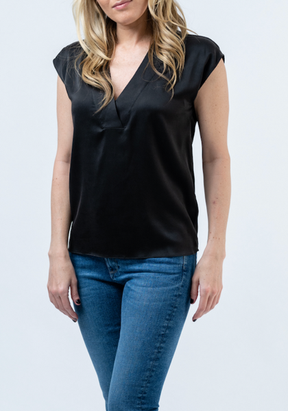 Olivia Silk V-Neck Blouse