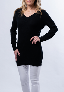 Double V Tunic Sweater