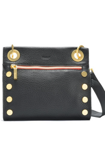Tony Small Crossbody Black / Brush Gold Red Zip