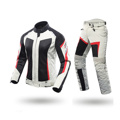 DUHAN Female Motorcycle Jackets Lady Pants Clothes Motorbike Jacket Trousers Suits With CE Protective gear racing sets - Eatan