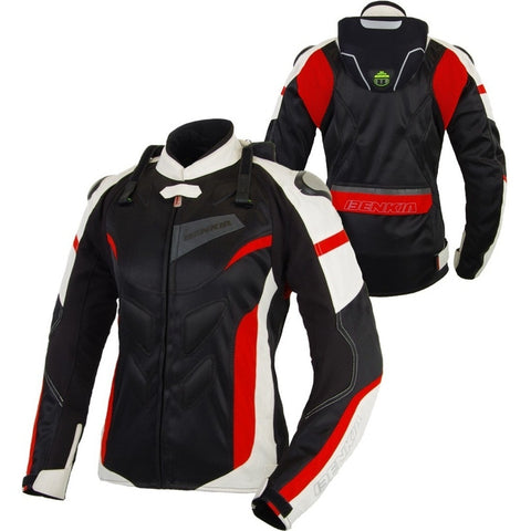 Free shipping 1pcs Summer Spring Women Motorbike Mesh Breathable Motocross Clothing Motorcycle Jacket With 5pcs pads - Eatan