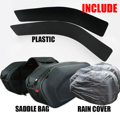 2018 SA212 Motorcycle Waterproof Saddle bags Racing Moto Helmet Bags Travel Luggage saddlebags +one pair rain cover and plastics - Eatan