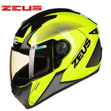 ZEUS Brand Helmets Motorcycle  Motorcycle Cross Country Helmet Off-road Lightweight Racing Vehicle Motocross 3XL Helmet - Eatan