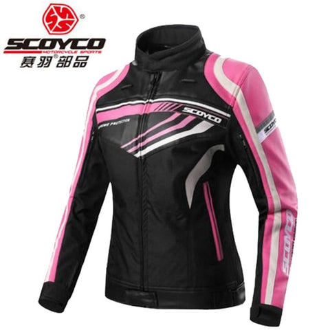 2018 New Ladies Motorcycle riding gear Jacket women knight equipment JK37W lady Motorbike jackets of Oxford cloth and PU - Eatan