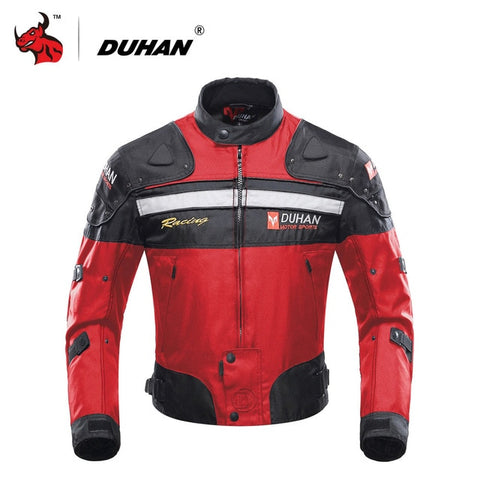 DUHAN Motorcycle Jackets Motocross Off-Road Racing Jacket Motorcycle Protection Moto Jacket Motorbike Windproof Protective Gear - Eatan