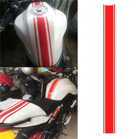 50CM DIY Fuel Tank Sticker Waterproof for Racing Motorcycle Accessories Funny Decoration Sticker Moto Decals - Eatan
