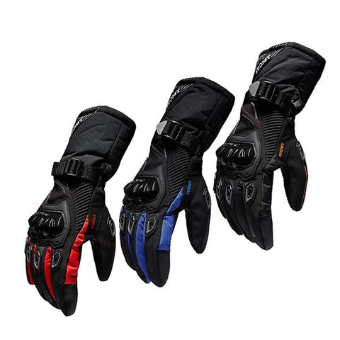 New Winter Motorcycle Gloves Waterproof And Warm Four Seasons Riding Motorcycle Rider Anti-Fall Cross-Country Gloves - Eatan
