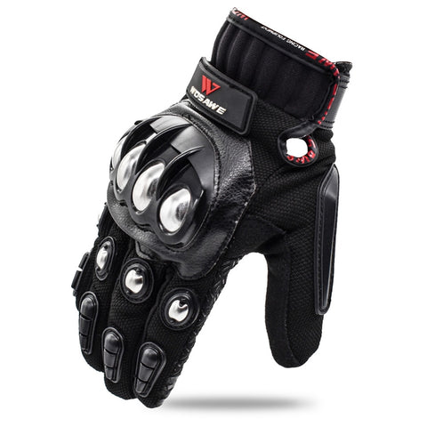 WOSAWE Touch Screen Sports Motorcycle Gloves Men PU Leather Windproof Non-slip Off Road MTB Motocross Hands Protection Gloves - Eatan