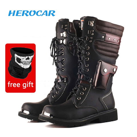Motorcycle Boots Motorcycle Shoes Motocross Boots Moto Shoes Leather Race Motocross Motorbike Riding Boots Shoes Protective Feet - Eatan