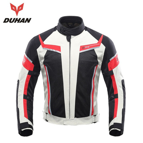 DUHAN Motorcycle Jacket Men Pants Moto Summer Protective Motorcycle Suit Mesh Moto Racing Jackets Clothing Motorbiker Blouson - Eatan