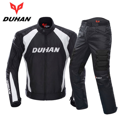 DUHAN Motorcycle Jacket Men Motocross Suits Jacket & Pants Moto Jacket Protective Gear Armor Motorcycle Clothing Riding Jacket - Eatan
