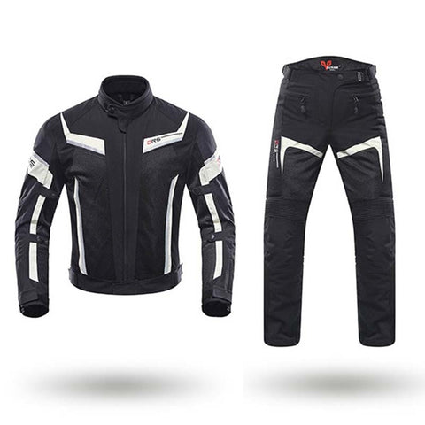 DUHAN Men Motorcycle Jacket Pants Summer Motocross Breathable Clothing Suits Motorbike Moto Jacket Pants Trousers Protection CE - Eatan