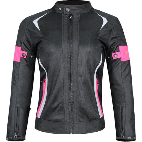 Motorcycle Jacket Women Breathable Mesh Jacket Motorbike Motocross Racing Protective Gear ProtectionWindproof riding clothes - Eatan