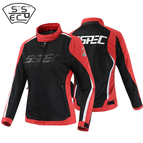SSPEC professional women's motorcycle jacket off-road riding protective equipment racing jacket breathable mesh motorbike jacket - Eatan