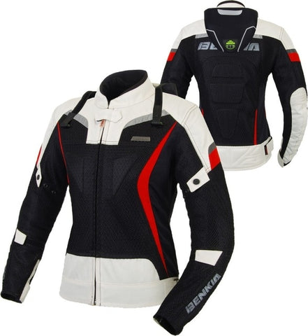 BENKIA JWW21 Women's Motorcycle Jackets Race Clothing Racing Jackets Grid Material Motorbike Racing Jacket With Protector Guards - Eatan