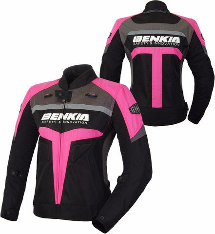 Benkia Motorcycle Jacket Women Motocross Racing Jacket Motorbike Riding Jacket Protective Moto Biker Rider Knight Jacket Runway - Eatan