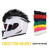 NEW Motocross Racing Helmet Hair Punk Hair Motorcycle full face Helmet Ski party caps decoration party hats - Eatan