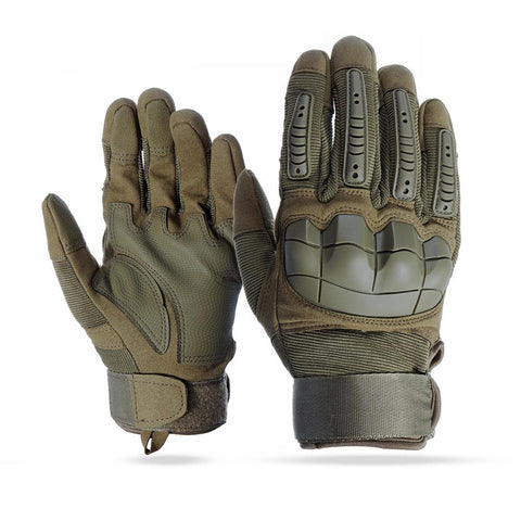 Touch Screen Full Finger Gloves Motorcycle Military Tactical Airsoft Hard Knuckle Outdoor - Eatan