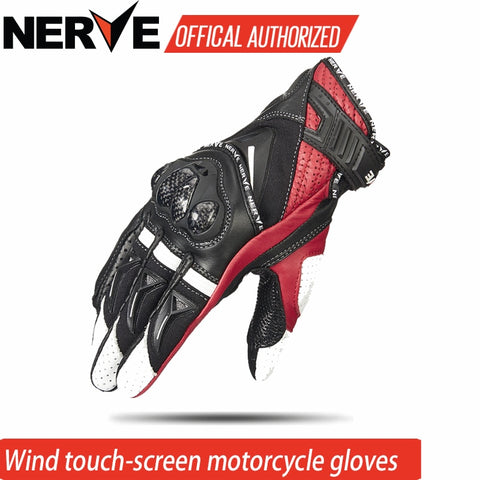 NERVE New gloves Leather Motorcycle Riding Protection Equipment Racing Gloves moto Retro Motorcycle Gloves Touch screen KQ1029 - Eatan
