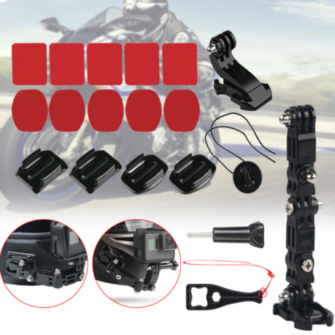 Small Fixed Bracket Set Universal Full Face Camera Accessories Parts Car Lightweight Motorcycle Helmet Chin Mount For Gopro Hero - Eatan