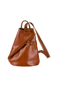 Il Giglio Tan Leather Backpack