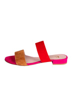 CAMILLA Pascucci Pink Red Tan Slides