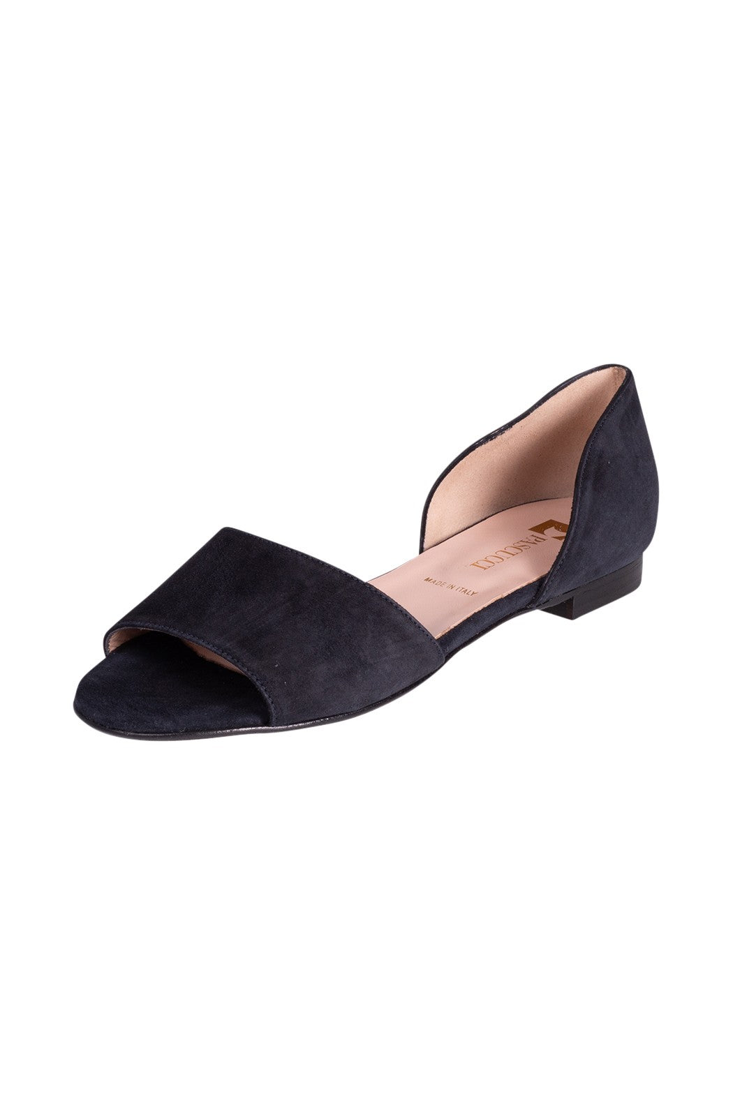 MIRABELLA Pascucci Navy Suede Sandal