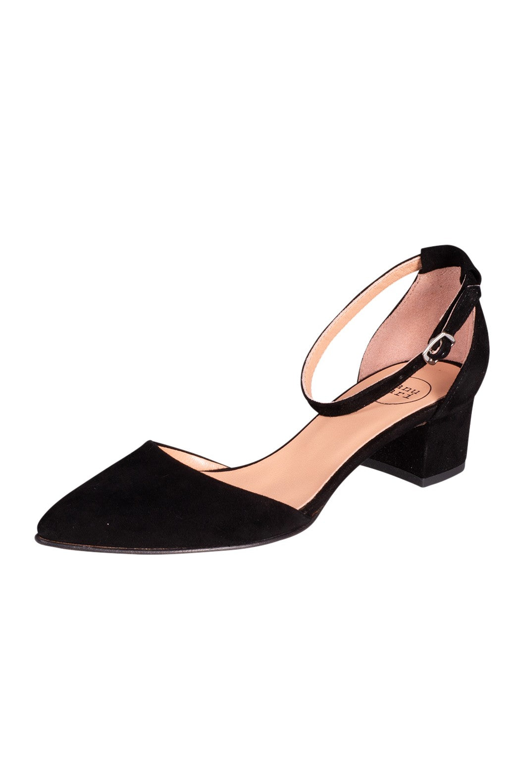 MELANIA Manu Mari Mary-Jane Black Suede