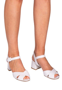 NOEMI Pascucci White Strappy Heeled Sandal