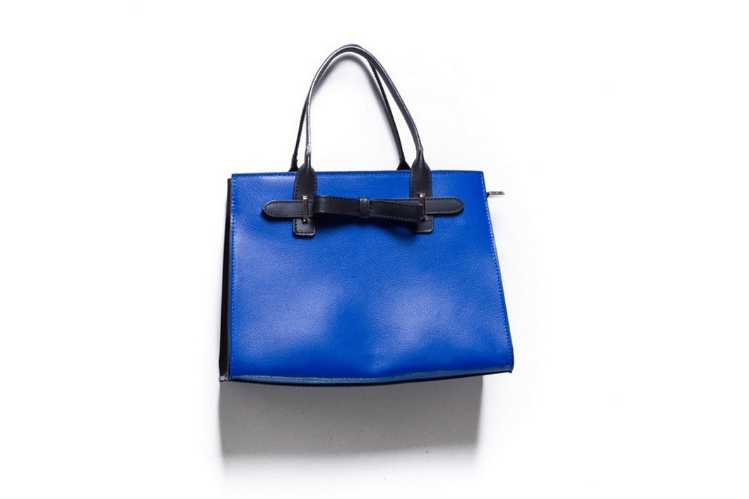 womens italian leather bag structured blue red bow handmade in italy italian leather bags australia adelaide