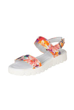 white floral leather sandal with thick white sole lady doc womens italian leather sandals australia adelaide