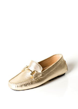 Pascucci Gold Driving Loafer