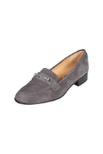 Italian grey suede classic loafer