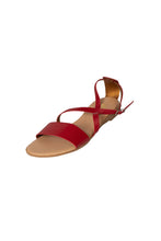 Adele casual red sandal cross over strap less than 100