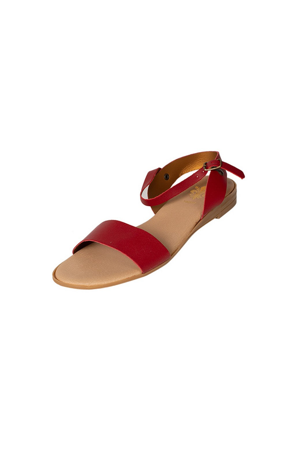 Lucia casual red sandal two strap less than 100