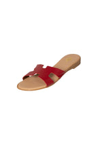 Italian Leather Slides Oran Hermes H slides