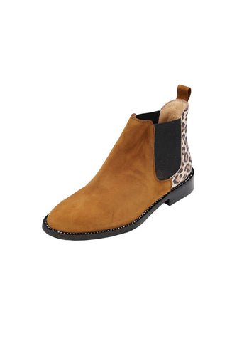 AGNELLA Pascucci Sella and leopard Print Chelsea Boot