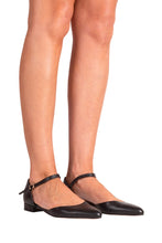 HOPLA Pascucci Flat Mary-Jane in Black
