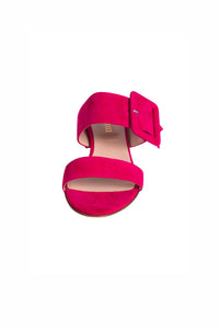 ROSE Pascucci Pink Suede Heeled Slides