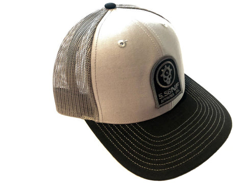 GREY/CHARCOAL/BLACK PATCH HAT