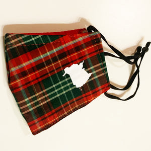 Spirit Of New Brunswick Tartan Face Cover With Print