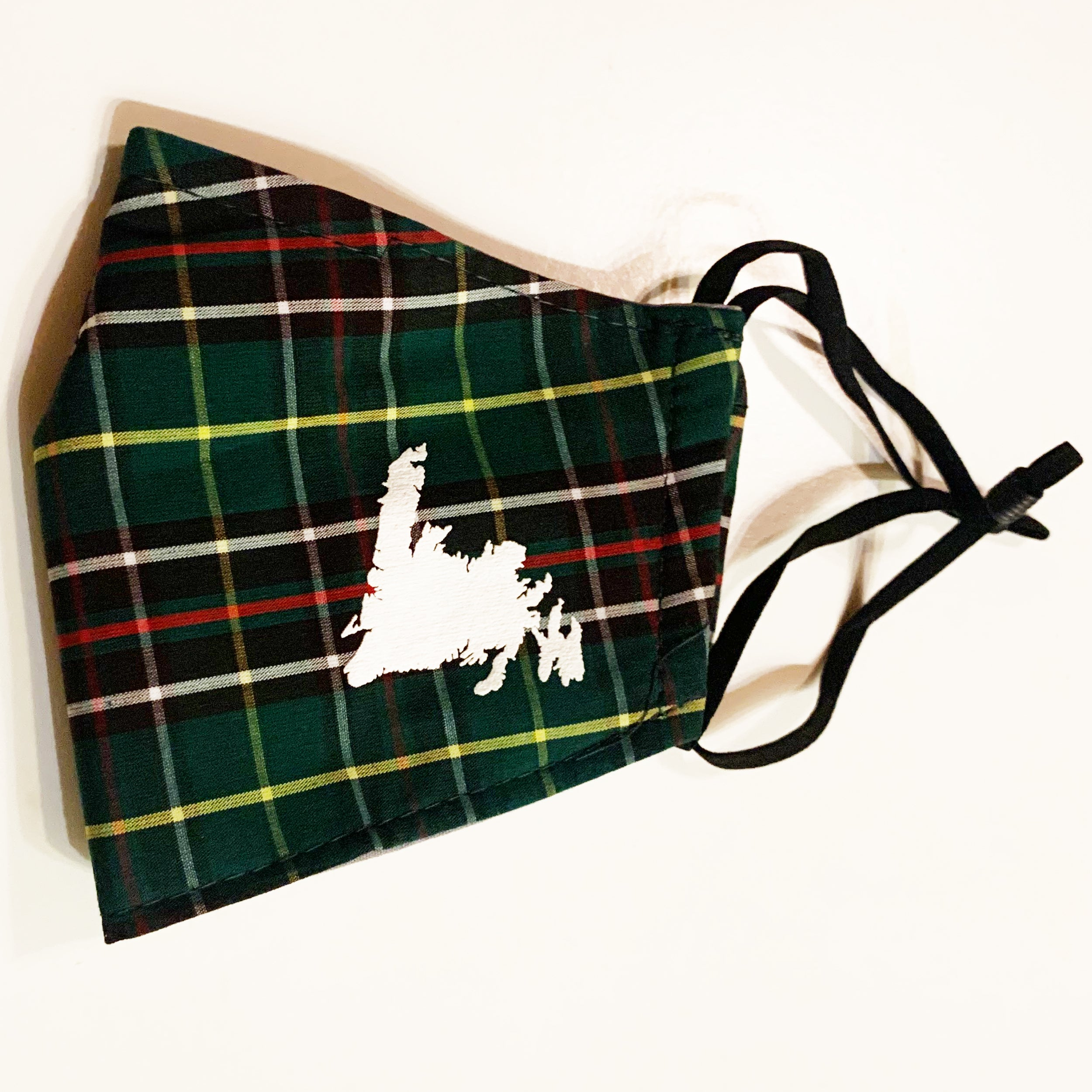Newfoundland Cheer Tartan Face Cover With Print