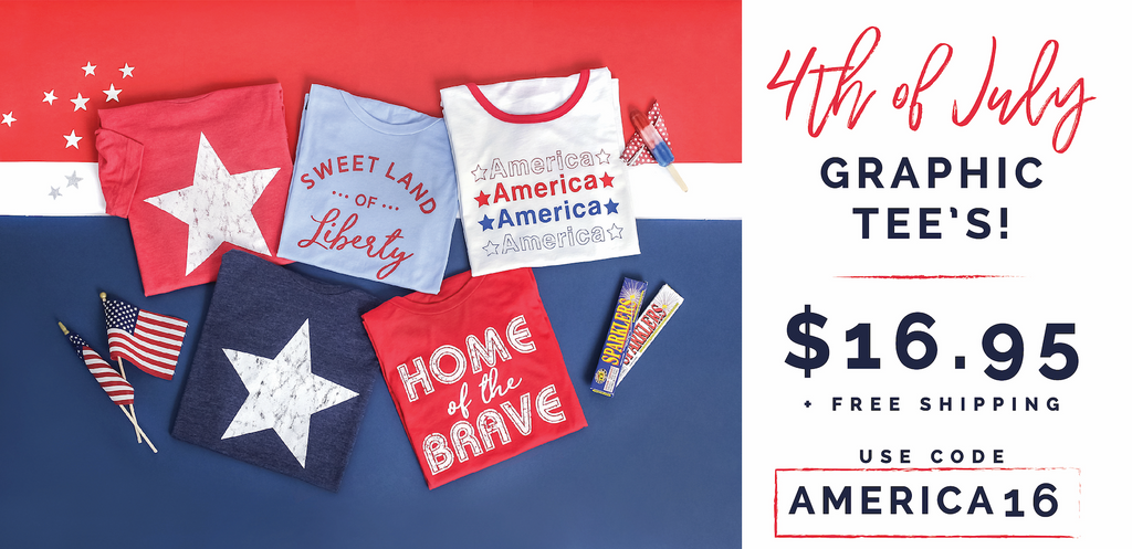 a2567c4cf The deal today is awesome – get Cute 4th of July Tees for $16.95 when you  use coupon code AMERICA16.