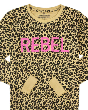 Leopard Rebel Graphic Sweatshirt | XS-3X