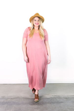 Caprice Double V-Neck Maxi Dress | Plus Size