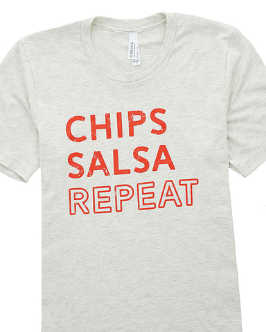 Image of Chips Salsa Repeat Graphic T-Shirt / S-3XL