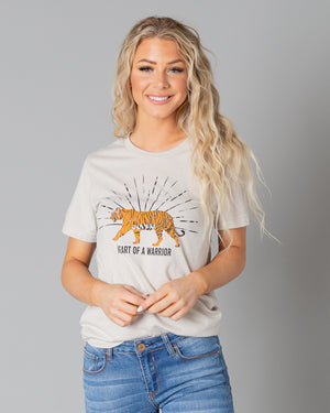 Tiger Heart Of A Warrior Graphic T-Shirt | S-3XL
