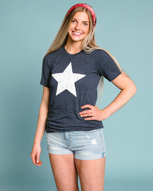 Vintage Faded Star Graphic T-Shirt