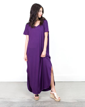 Caprice Double V-Neck Maxi Dress | S-XL